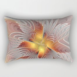 Fantasy Butterfly, Abstract Fractal Art Rectangular Pillow