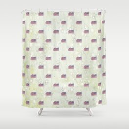 American Flag Aglow, stars in the dawn's early light, pattern Shower Curtain