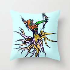Atlantean Archer Throw Pillow
