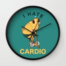 I Hate Cardio Wall Clock