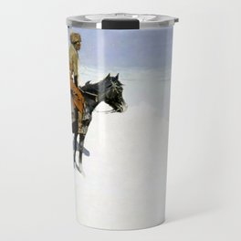 "Frederic Remington Western Art ""The Scout"" Travel Mug"