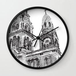 Capilla esgrafiada Wall Clock