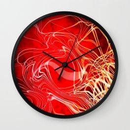 Linear Chaos Red Wall Clock