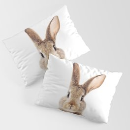 Baby Rabbit, Brown Bunny, Baby Animals Art Print By Synplus Pillow Sham