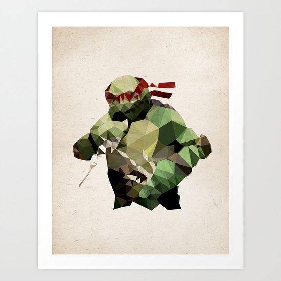 Polygon Heroes - Raphael Art Print