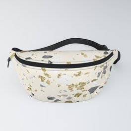 Glitter and Grit Yellow Gold Marble Fanny Pack