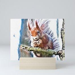 winter feeding Mini Art Print