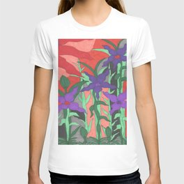 Twilight Sun Garden Floral Art T-shirt