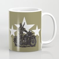 military Mugs featuring Military Harley by Ernie Young