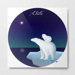 Polar star, polar bear Metal Print