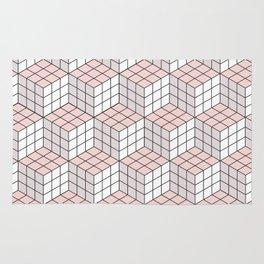 Minimalist Cube Pattern Rug
