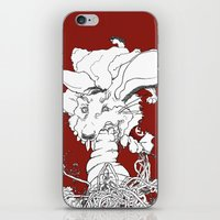 vegetarian iPhone & iPod Skins featuring Hitler was a Vegetarian  by Amanda Thompson