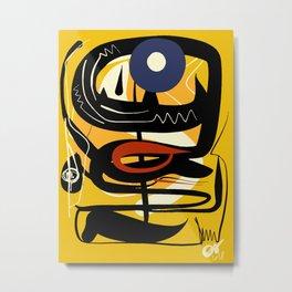 Street Art Yellow African Graffiti Metal Print