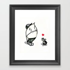 pouty face loves his dog Framed Art Print