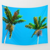 palms Wall Tapestries featuring Palms by Avalon Isabel Photography