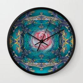 Vintage Fairy Tale Magic Rose Wall Clock