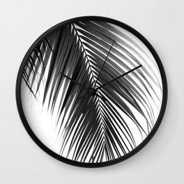 Palm Leaves Black & White Vibes #5 #tropical #decor #art #society6 Wall Clock