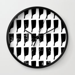 Rowing Oars 2 Wall Clock