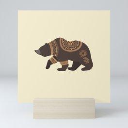Scandinavian Folk Art Bear Mini Art Print