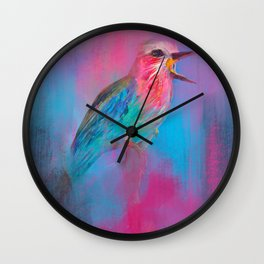 Lilac breasted roller - 725.1 Wall Clock