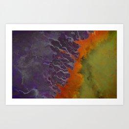 Ganges River Delta Aerial View Art Print