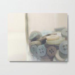 In the Button Jar Metal Print