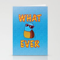 puppycat Stationery Cards featuring Whatever by ohzemesmo