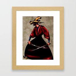 JIBARO SAMURAI-DOS MACHETES,UN DESTINO Framed Art Print