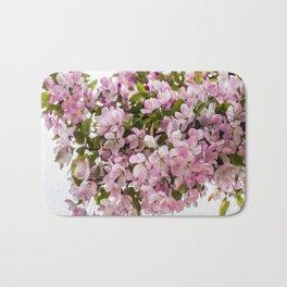 Cerise Flowers Bath Mat