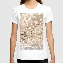 Gold Lady Glitter #1 #shiny #decor #art #society6 T-shirt