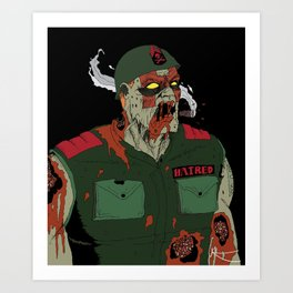 Sgt Hatred Art Print