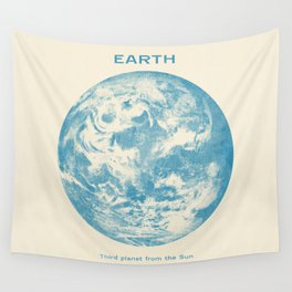 Third Planet  Wall Tapestry