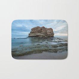 Big rock beach sunset Bath Mat