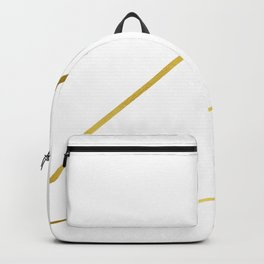 Gold and White Geo Minimalism Backpack