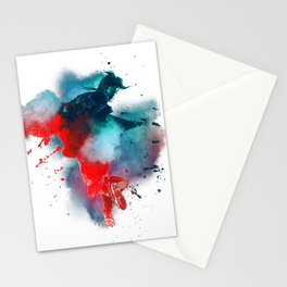 Smoky Double Exposure Stationery Cards