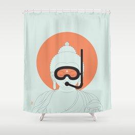 Buddha : Take A Deep Breath! Shower Curtain