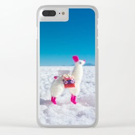 Llamas on the Bolivia Salt Flats Clear iPhone Case