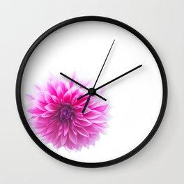 Dahlia On White Wall Clock