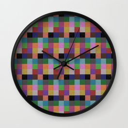 Colour Clay Wall Clock
