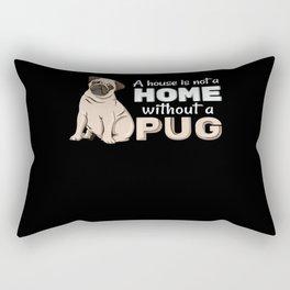 Home Pug Rectangular Pillow