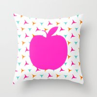 apple Throw Pillows featuring *Apple* by Mr and Mrs Quirynen