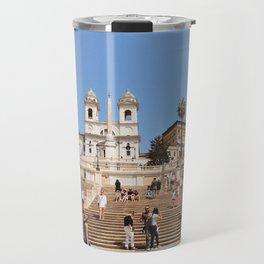 Journey Up the Spanish Steps Travel Mug