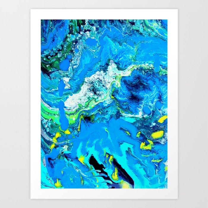 melting colors Art Print
