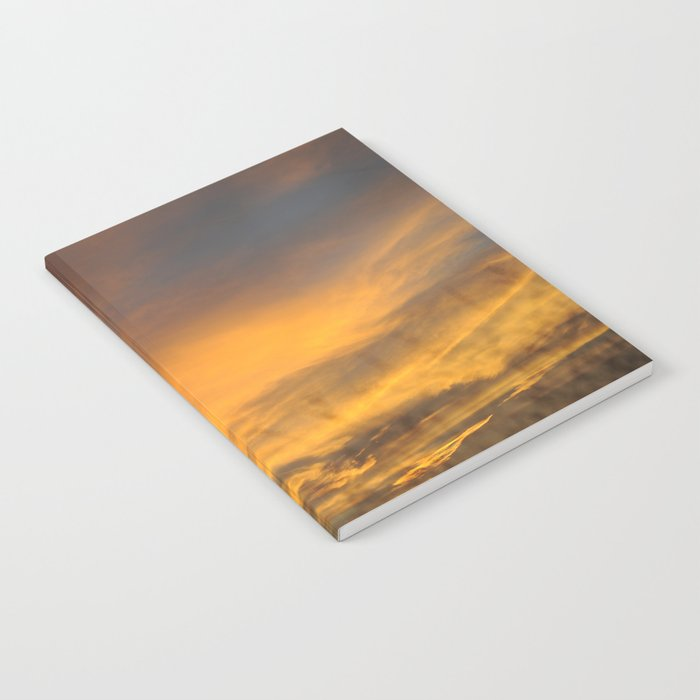 COME AWAY WITH ME - Autumn Sunset #2 #art #society6 Notebook