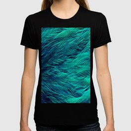 Teal Feathers T-shirt