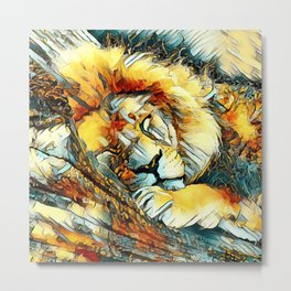 AnimalArt_Lion_20170604_by_JAMColorsSpecial Metal Print