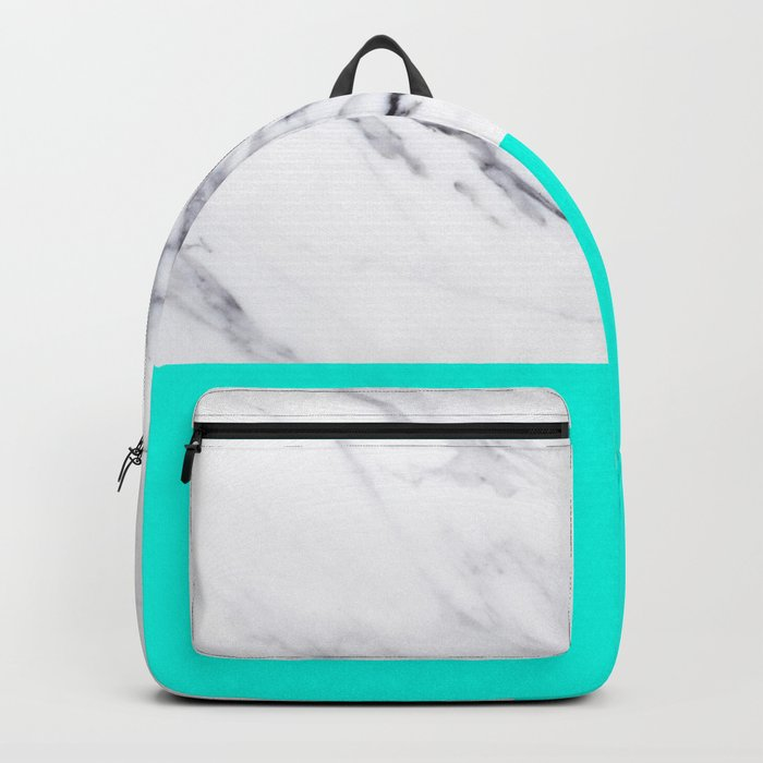 Marble Blue Luxury iPhone Case and Throw Pillow Design Backpack