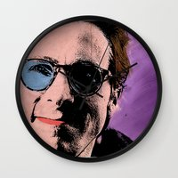 american psycho Wall Clocks featuring American Psycho by sbs' things