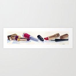Cosmetics Art Print