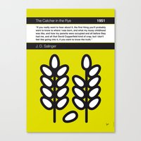 catcher in the rye Canvas Prints featuring No016 MY The Catcher in the Rye Book Icon poster by Chungkong